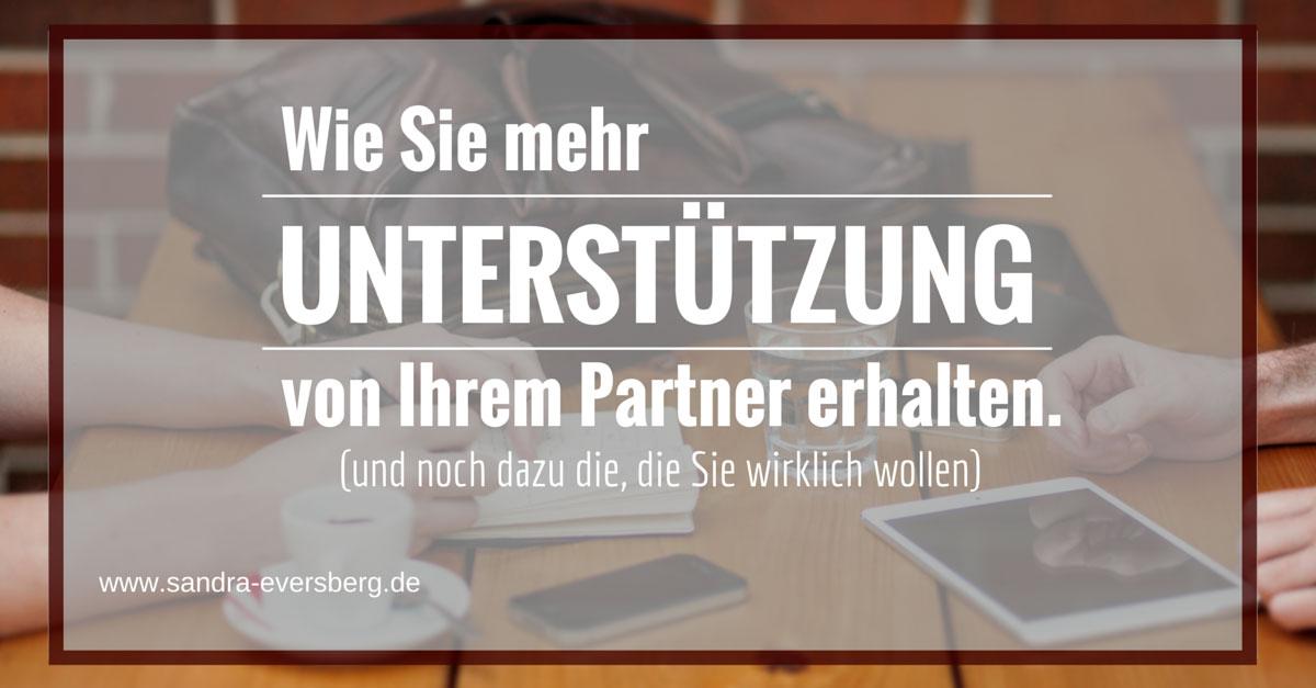 Unterstützung vom Partner